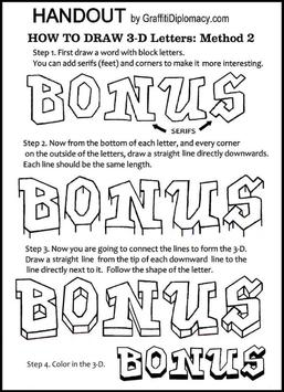 How to Draw Graffiti Letters screenshot 5