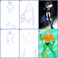 How to Draw Superhero DC Step by Step