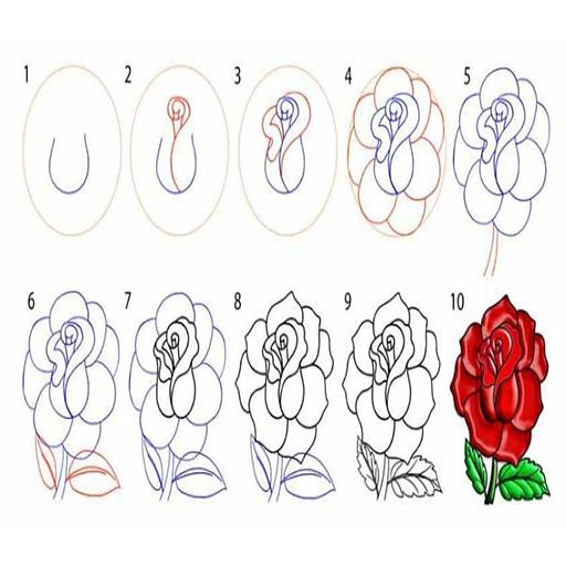 Cómo Dibujar Rosa For Android Apk Download