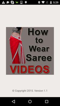 How to Wear Saree Videos poster
