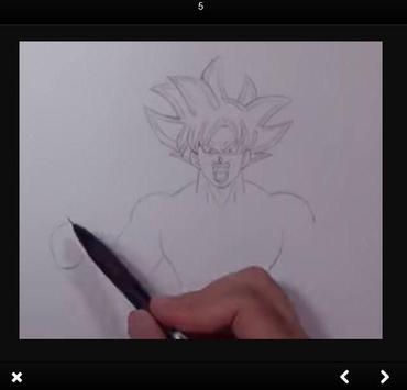 How to draw Goku Ultra Instinct step by step screenshot 1
