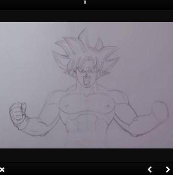 How to draw Goku Ultra Instinct step by step screenshot 2