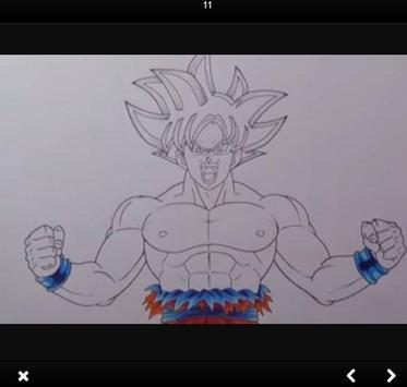 How to draw Goku Ultra Instinct step by step screenshot 3