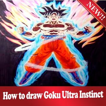 How to draw Goku Ultra Instinct step by step screenshot 6