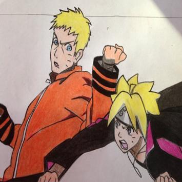 How to Draw Naruto and Boruto poster
