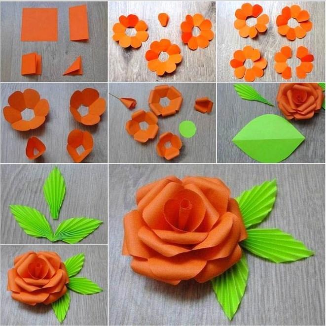 как делать бумажные цветы на открытки