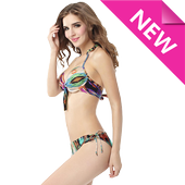 Hot sexy swimsuit collection icon