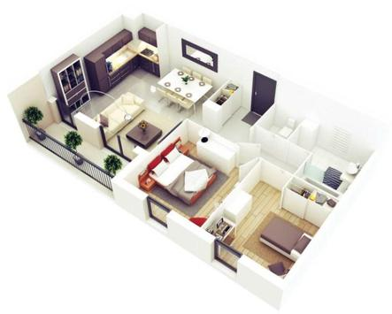 3D House Floor Plans poster