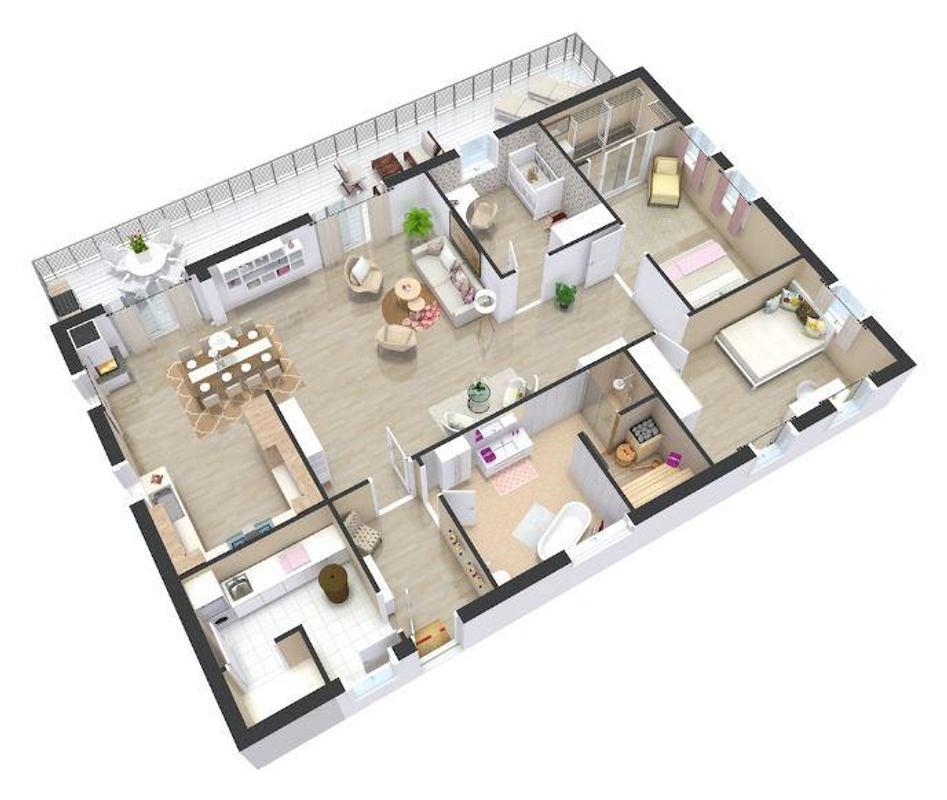 خطط البيت 3D البيت For Android