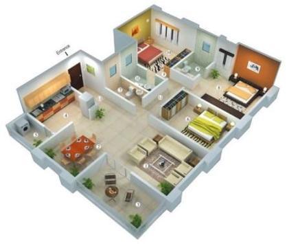 Diseños de planos de casas en 3D for Android - APK Download