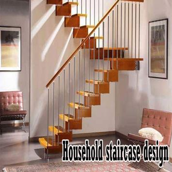 Household staircase design poster