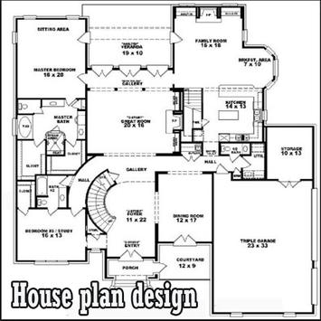 house plan design poster