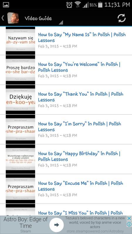 Polnisch Lernen Für Android Apk Herunterladen