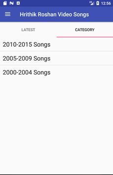 Hrithik Roshan Video Songs Lyrics apk screenshot