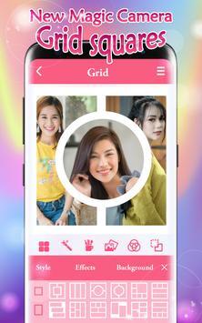 New Magic Camera Grid Squares & Photo Collage screenshot 4