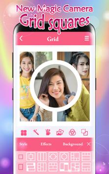 New Magic Camera Grid Squares & Photo Collage poster