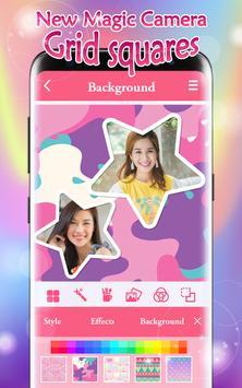 New Magic Camera Grid Squares & Photo Collage screenshot 1