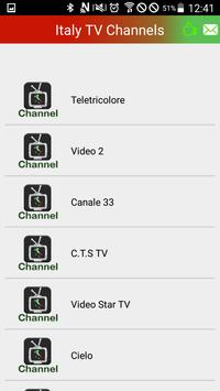 Watch Italy Channels TV Live apk screenshot