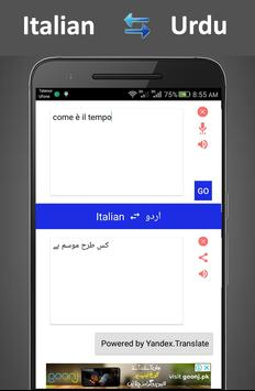 traduci da Italiano a Urdu screenshot 2