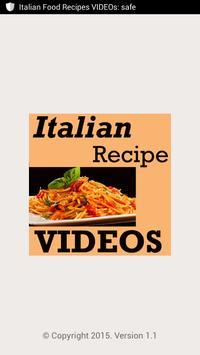 Italian food recipes videos apk download free entertainment app italian food recipes videos poster forumfinder Images