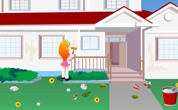 เกมส์ทำความสะอาดสวนสวย screenshot 1