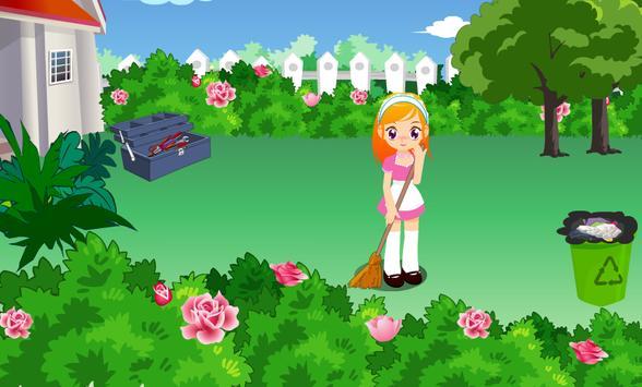 เกมส์ทำความสะอาดสวนสวย screenshot 2