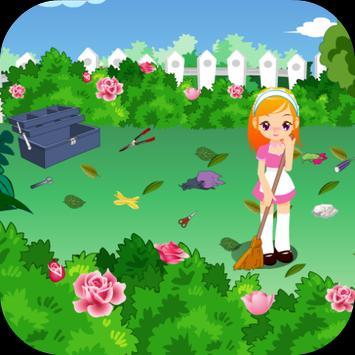 เกมส์ทำความสะอาดสวนสวย screenshot 3