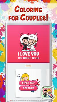 I Love You Coloring Book poster