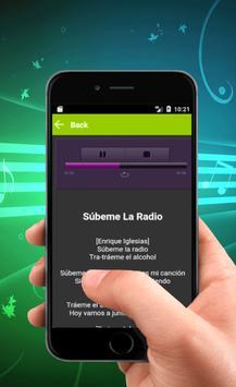 Enrique Iglesias de música y letras apk screenshot