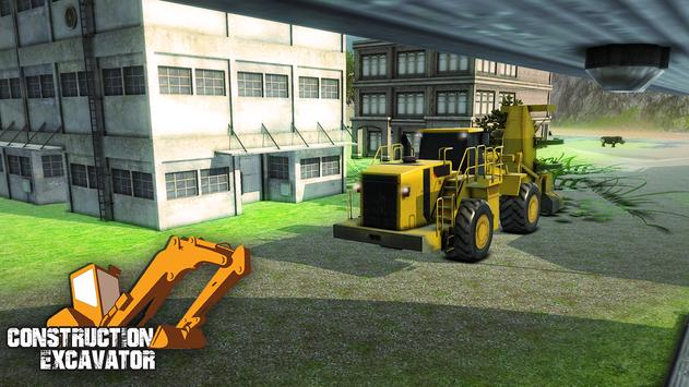 Real Construction Excavator 3D poster