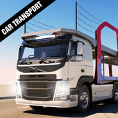 Car Transporter Trailer Truck icon