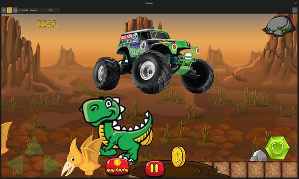 Dinosaurs vs Monster Trucks screenshot 3