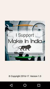 I Support MODI's Make In India poster