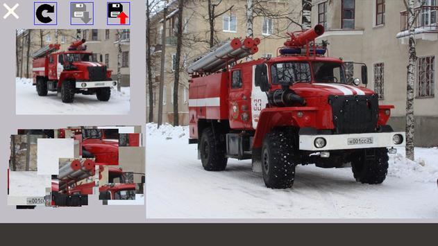 Puzzle Fire Truck screenshot 1