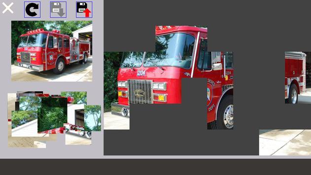 Puzzle Fire Truck screenshot 5