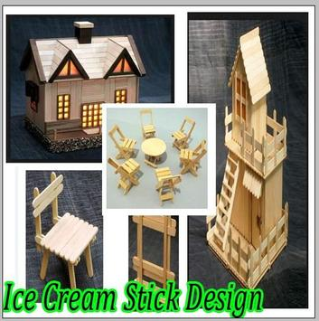 Ice Cream Stick Design poster