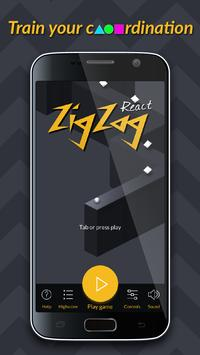 Zig Zag React poster