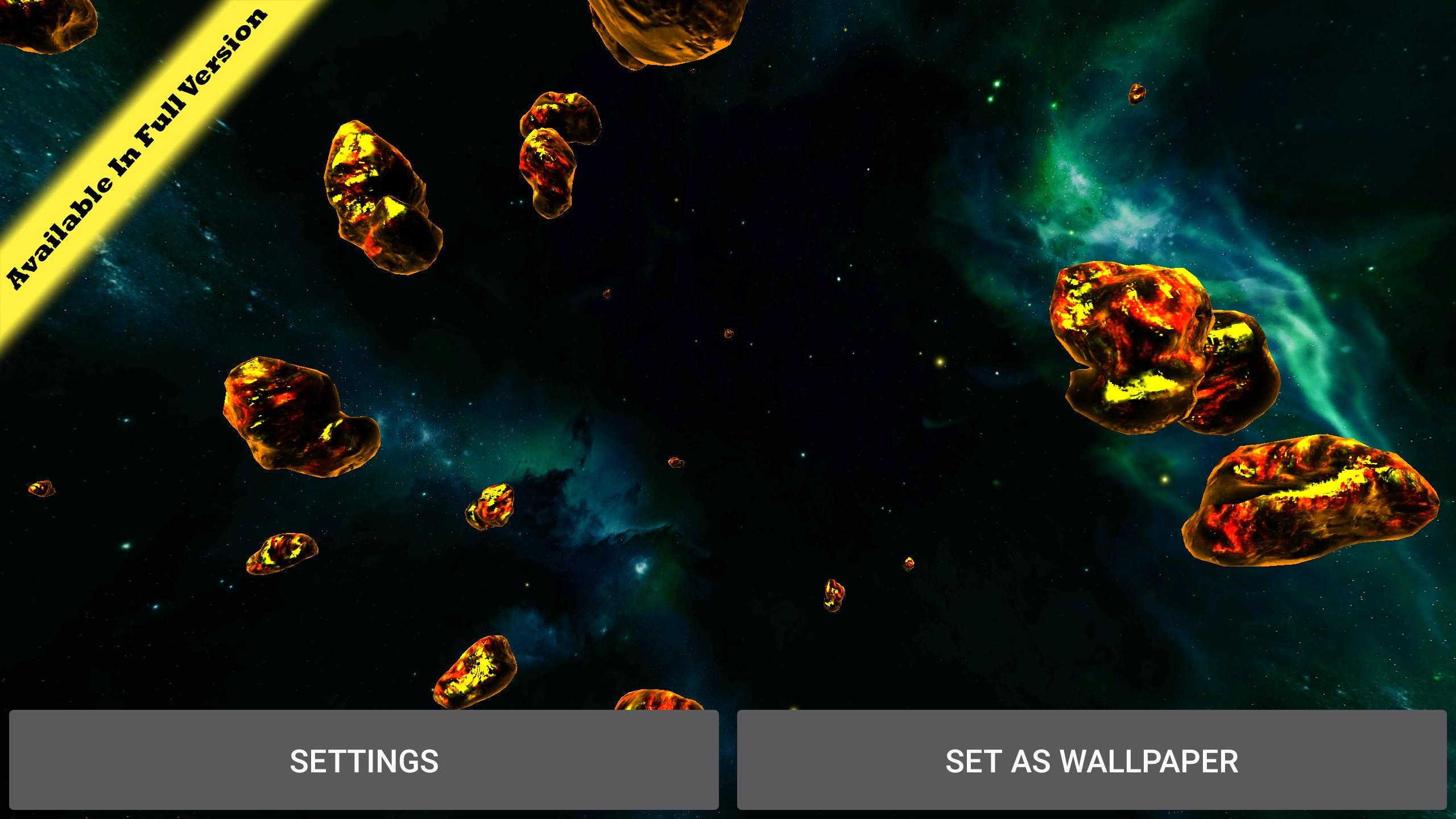 Gyro Space Asteroids 3d Live Wallpaper For Android Apk