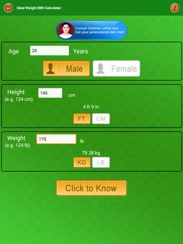 BMI Calculator & Ideal Weight Diet Charts screenshot 14