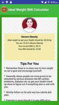 BMI Calculator & Ideal Weight Diet Charts screenshot 4