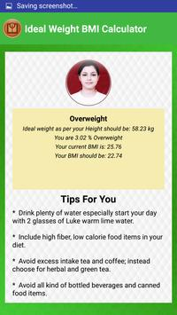 BMI Calculator & Ideal Weight Diet Charts screenshot 6