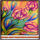 Ideas Art Drawing Flowers icon