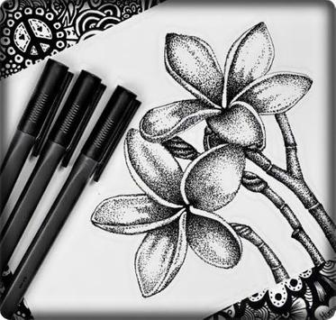 Ideas Art Drawing Flowers screenshot 3
