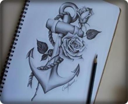 Ideas Art Drawing Flowers apk screenshot