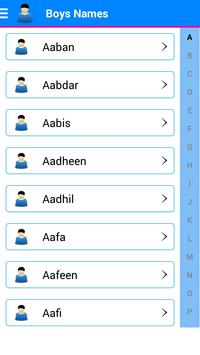 Islamic Baby Names Meaning Poster