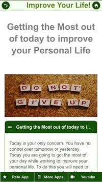 Improve Personal Life - How To Be Happy In Life? screenshot 3