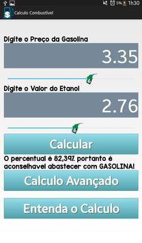 Calcule Preço Combustível apk screenshot