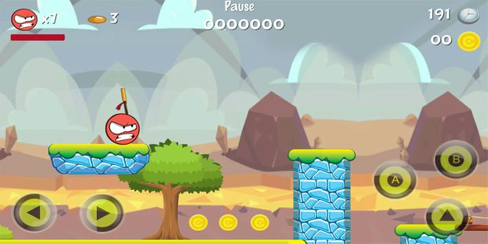 Bossy Ball : in new red adventure 4 worlds for Android - APK