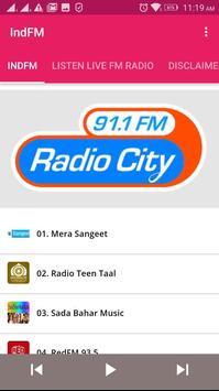 Radio IndFM screenshot 1