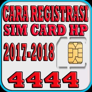 Cara Registrasi Sim Card HP poster